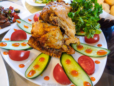 Marinated roasted chicken in Bishkek