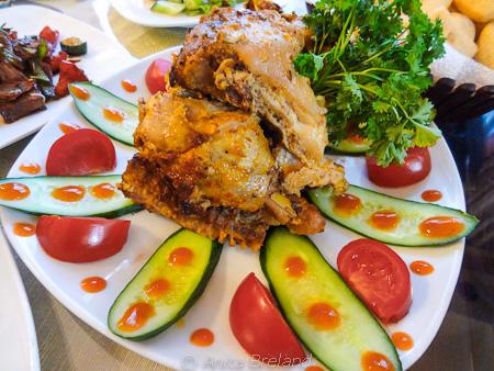Marinated roasted chicken in Bishkek