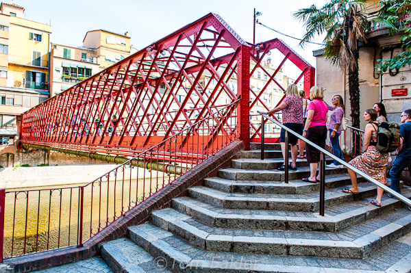 Eiffel Bridge over Girona's Onyar River