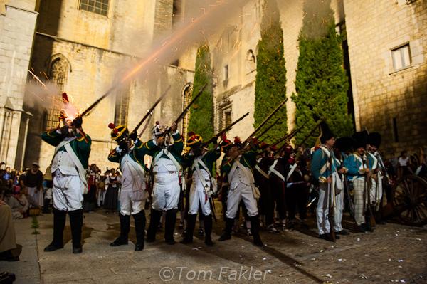 Re-enactment of Napoleon's siege