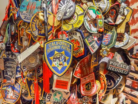 Police badges, St. Paul's church