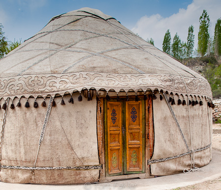Kyrgyz yurt in traditional style