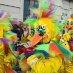 Marchers in the annual Fasnacht parade, Basel, Switzerland