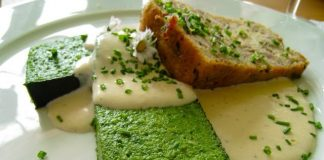 Nettle terrine, La Couronne d'Or in Leyman, Alsace, France