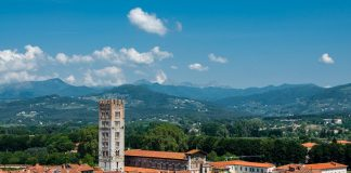 Lucca, Tuscany in summer