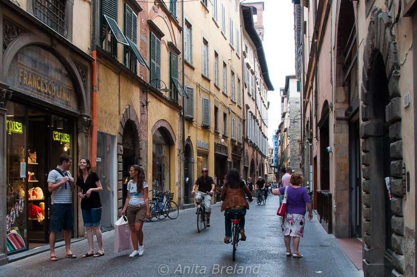 Pedestrian zone in Lucca, Tuscany