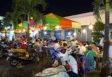 Ben Thanh market at night, Ho Chi Minh City, Vietnam