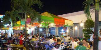 Ben Thanh market at night, Ho Chi Minh City, Vietnam