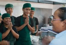 Kitchen staff at Romdeng, Phnom Penh, Cambodia