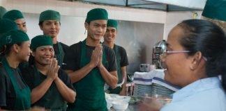 Kitchen staff at Romdeng, Phnom Penh, Cambodia