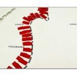 Japan shoreline detail, Ingo Gϋnther, for Art-Aid Japan, Basel, Switzerland