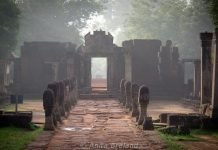 Banteay Srei at dawn, Angkor, Cambodia