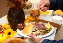 """Dinner on the ground"" buffet"