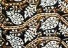 Ajrakh block-printed fabric detail