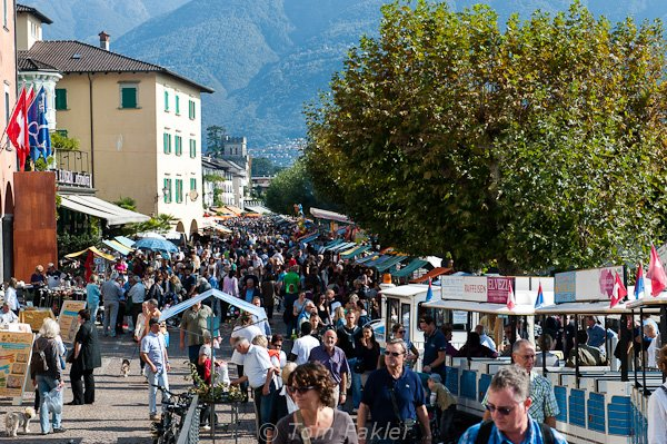 Chestnut festival in Ascona, Switzerland