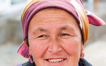 Vendor at Orgut Market, Uzbekistan