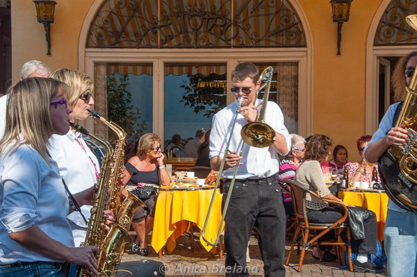 Brass band in Ascona, Switzerland