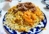 A fine dish of plov, Bukhara, Uzbekistan