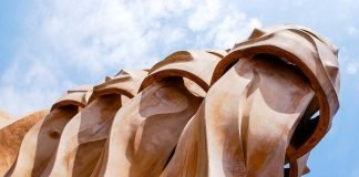 Rooftop chimneys, Casa Milà, Barcelona, Spain