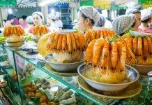 Prawns and coconut, Saigon, Vietnam