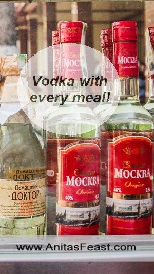 Vodka, a favorite drink in Tashkent, Uzbekistan