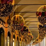 Christmas lights in Modena, Italy