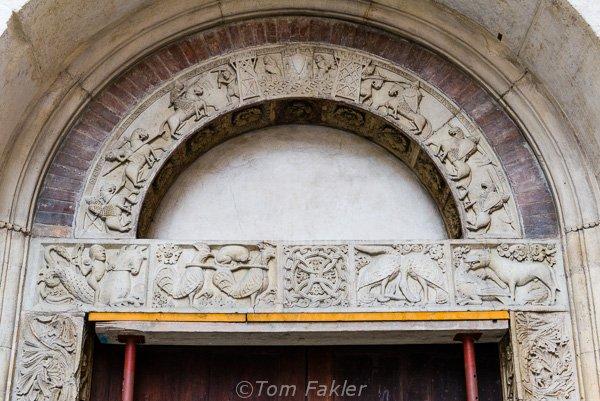 Lintel decoration, Duomo, Modena, Italy