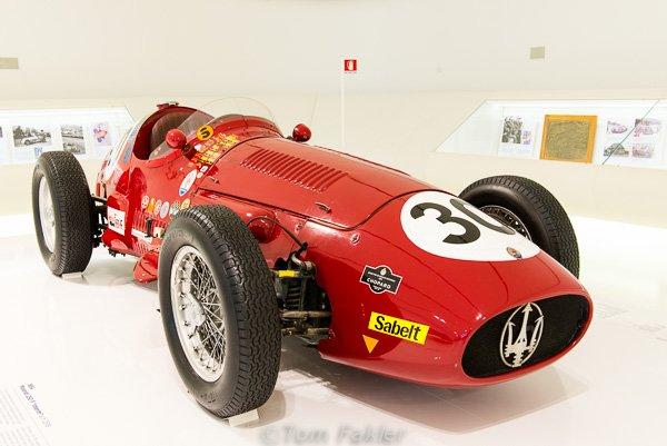 1954 Masarati 250 F in the Museo Enzo Ferrari, Modena, Italy