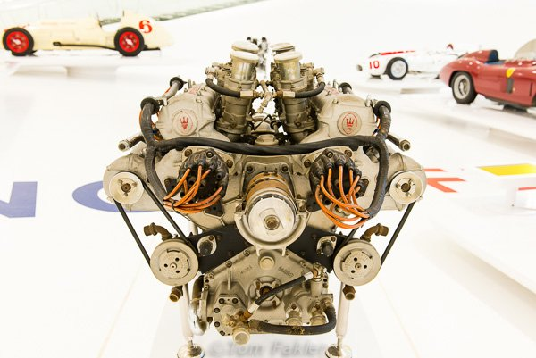 Masarati engine on display in the Museo Enzo Ferrari, Modena, Italy