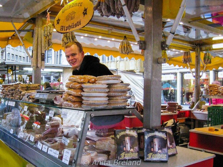 Basel city market at Marktplatz