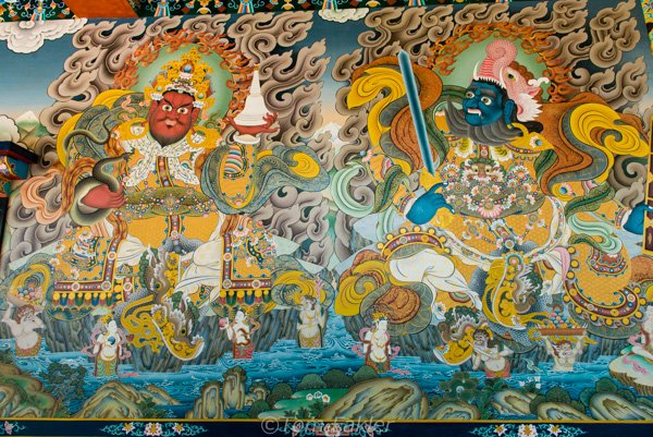 Buddhist wall painting