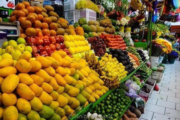 Fruit stand full of fruit