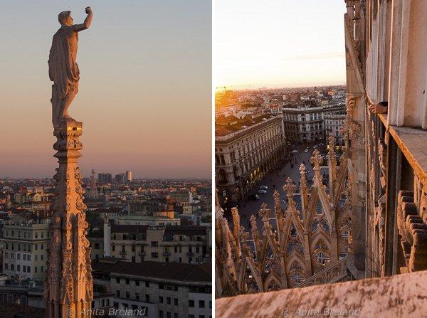Statue atop spire