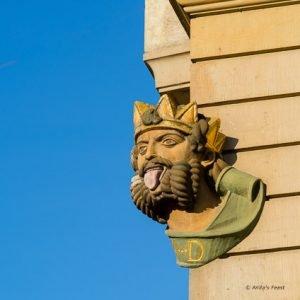 Lalle Koenig, the 17th century symbol of Basel, Switzerland