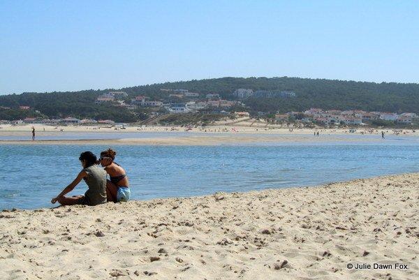 Foz de Arelho estuary beach