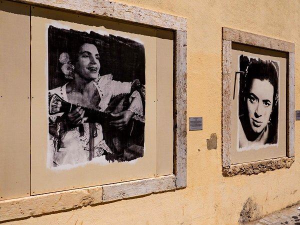 Portraits of celebrated fado singers