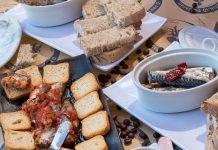 Sardines on plates