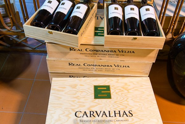 wine shop at Quinta das Carvalhas