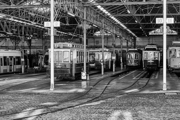 Tram maintenance yard