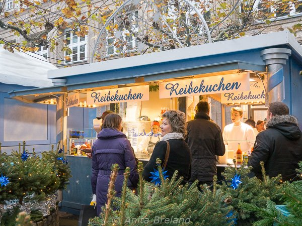 The Little Star Market is where I sampled Reibekuchen with molasses, a local way with potato puffs.