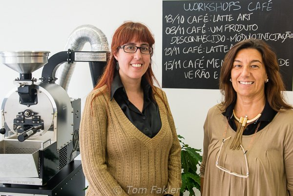 Sandra Azevedo of Academia do Café® and Teresa Ruivo of AICC