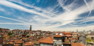 tiled rooftops of Porto
