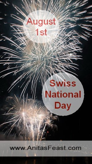 Fireworks in Basel for Swiss National Day