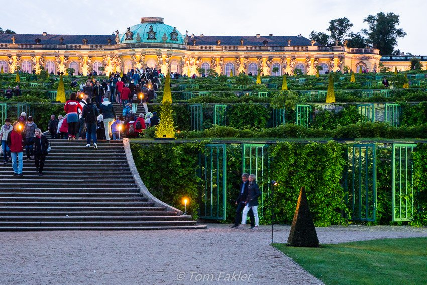 Sanssouci Palace, open for the annual Potsdamer Schlössernacht