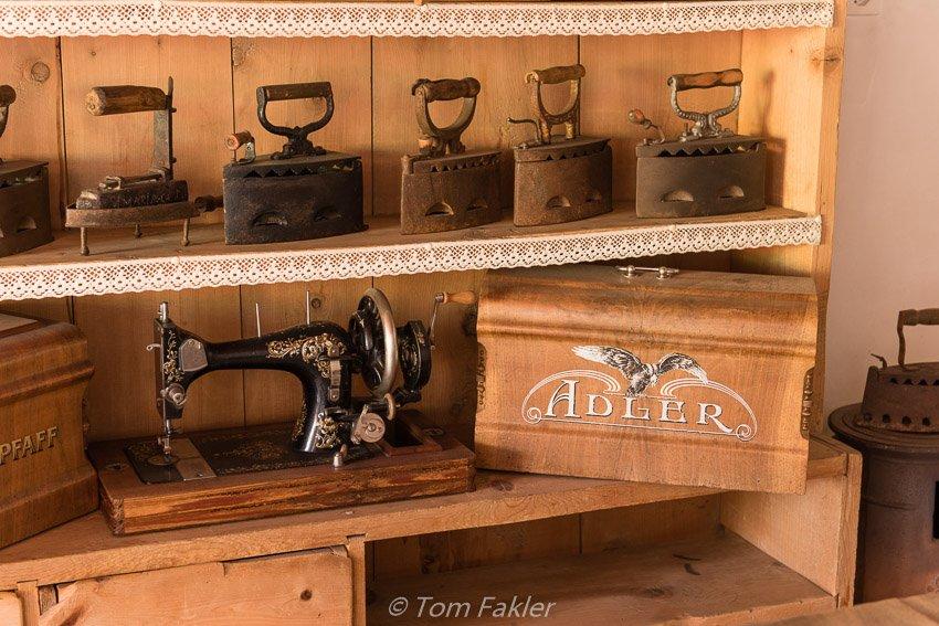 Household memorabilia at Ritterhaus Chasa de Capol, Val Müstair, Switzerland