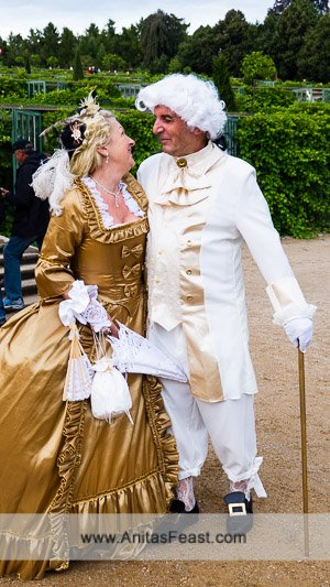 Locals dress in period costumes for Potsdamer Schlösernacht, a magical summer evening in Potsdam, Germany
