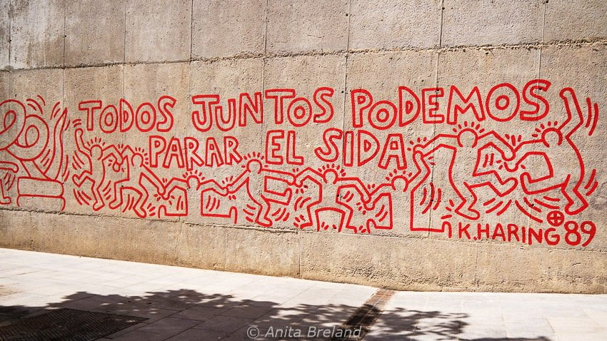 """Keith Haring: """"All together we can stop AIDS"""""""
