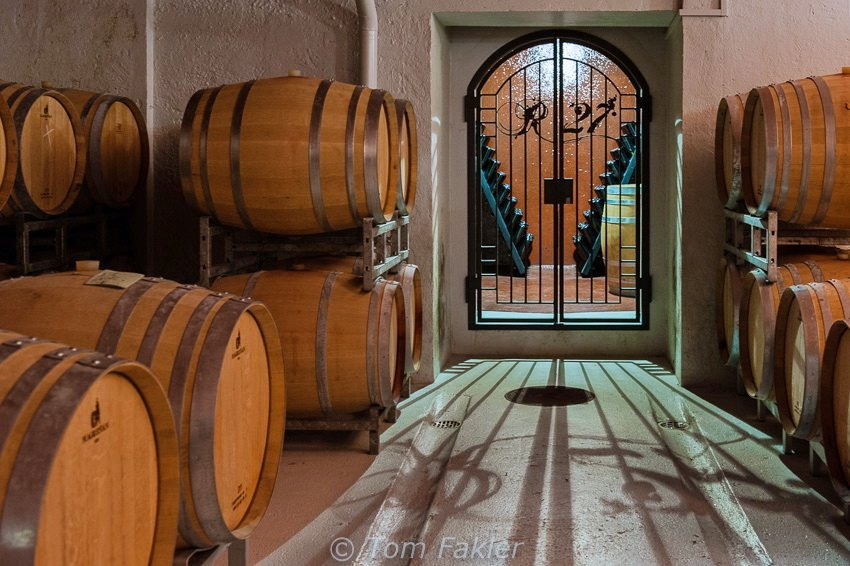 """The Treasury"" at Cantina Sociale Mendrisio, where some of Ticino's best wines are barrel- and bottle-aged"