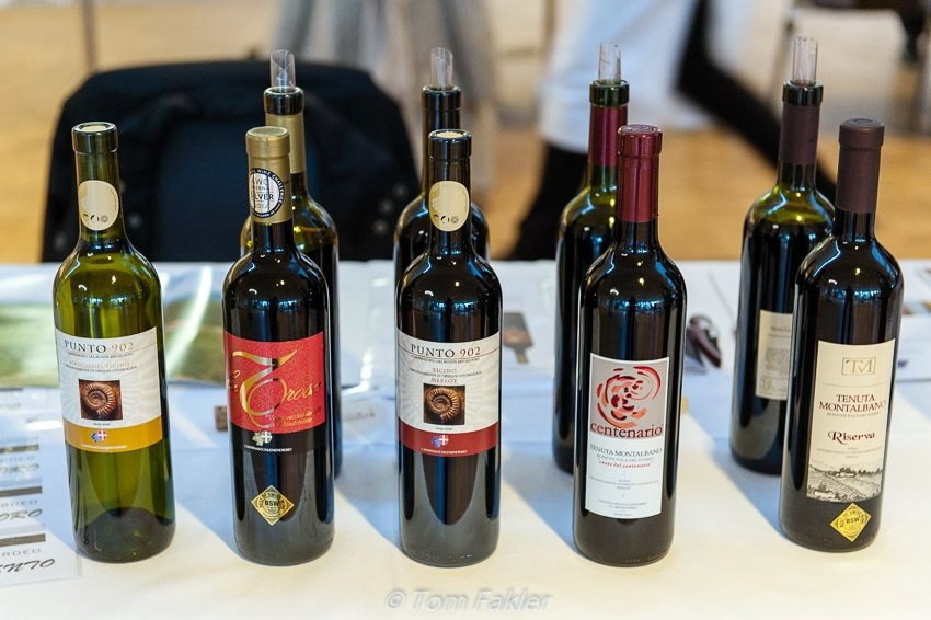 A selection of wines from Cantina Sociale Mendrisio
