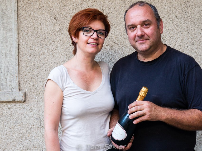Michele Bonato in Arzo has a passion for spumante. This small producer crafts a fine bubbly from white merlot in his family wine cellar, labeled in honor of his wife.